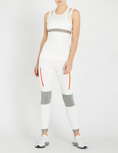 ADIDAS BY STELLA MCCARTNEY Run high-rise mesh-panelled stretch-jersey leggings