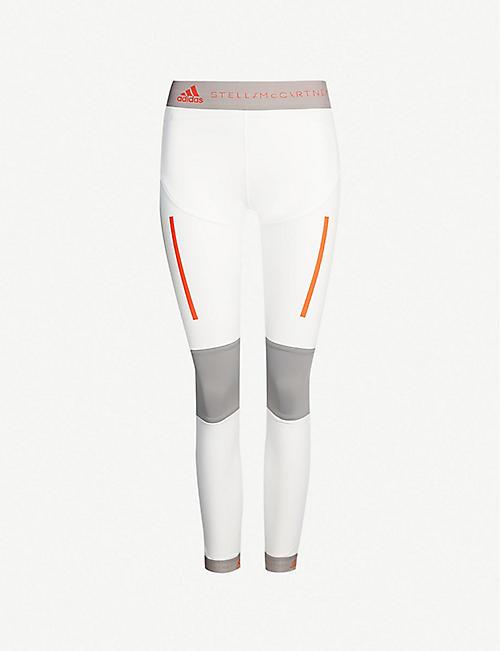 lowest price 03cc8 f0a55 ADIDAS BY STELLA MCCARTNEY Run high-rise mesh-panelled stretch-jersey  leggings