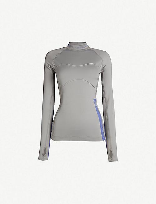 f9c9fdf0ef2 ADIDAS BY STELLA MCCARTNEY Run high-neck stretch-jersey top