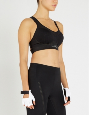 Stronger For It Stretch Jersey Sports Bra by Adidas By Stella Mccartney