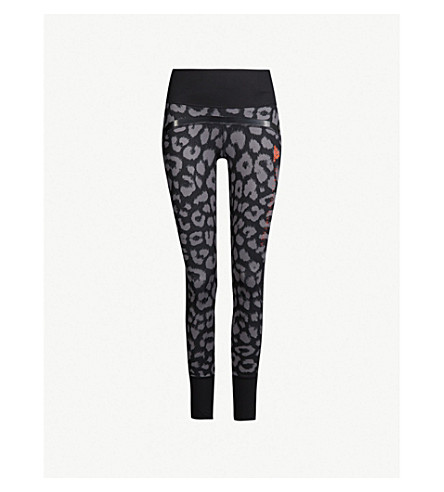 88400534f34 ADIDAS BY STELLA MCCARTNEY Belive This Comfort leopard-print stretch-jersey  leggings