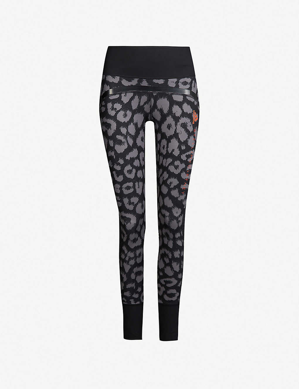 d7148f82a0d75 Belive This Comfort leopard-print stretch-jersey leggings - Black granite  ...