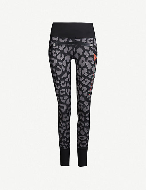 b46e5bb81862 ADIDAS BY STELLA MCCARTNEY Belive This Comfort leopard-print stretch-jersey  leggings