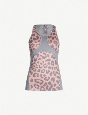 ADIDAS BY STELLA MCCARTNEY Believe This Comfort leopard-print stretch-jersey top