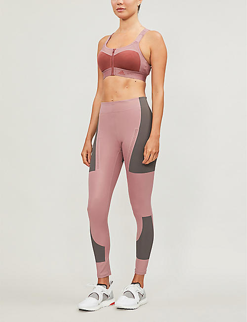 ADIDAS BY STELLA MCCARTNEY Scoop-neck recycled-polyester mastectomy bra