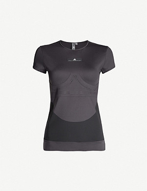 ADIDAS BY STELLA MCCARTNEY Perforated stretch-jersey T-shirt