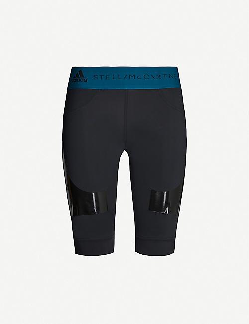 6b34f7fbcb4c1c ADIDAS BY STELLA MCCARTNEY Hybrid stretch recycled-polyamide sports shorts
