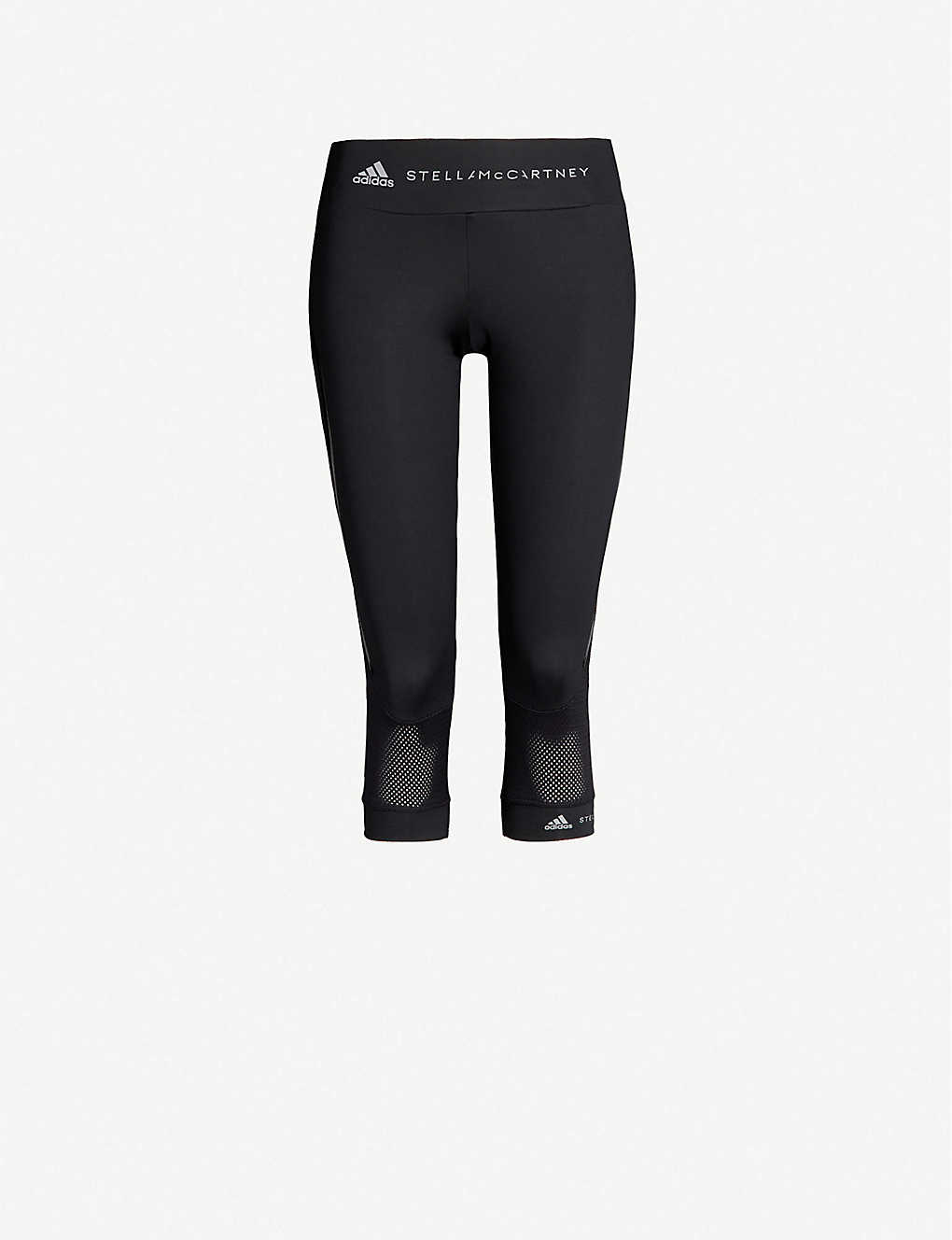 ADIDAS BY STELLA MCCARTNEY: Performance Essentials cropped stretch-jersey leggings