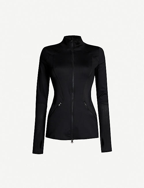 ADIDAS BY STELLA MCCARTNEY Mesh-trimmed stretch-jersey jacket