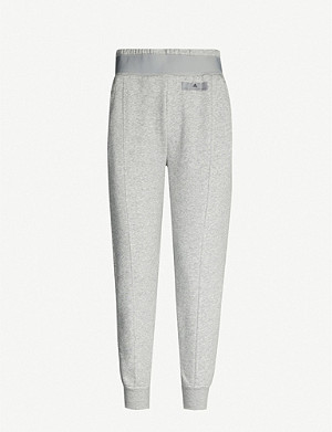 ADIDAS BY STELLA MCCARTNEY Essentials tapered cropped jersey jogging bottoms