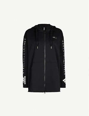 ADIDAS BY STELLA MCCARTNEY Logo-detail oversized organic cotton-jersey hoody