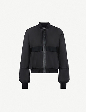 ADIDAS BY STELLA MCCARTNEY Logo-trim padded shell bomber jacket