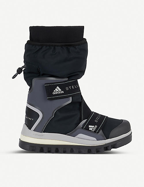 ADIDAS BY STELLA MCCARTNEY Logo-print woven snow boots