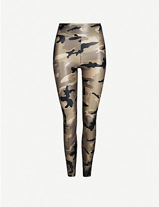 KORAL: Camouflage-print Lustrous high-shine stretch-jersey leggings