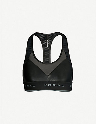 KORAL: Sweeper stretch-jersey sports bra