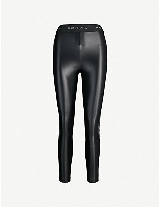 KORAL: Infinity stretch-jersey leggings
