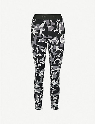 KORAL: Knockout mid-rise jacquard leggings
