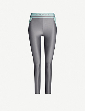 KORAL Window Energy high-rise panelled jersey leggings
