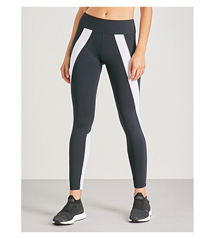 KORAL Hull Paneled Performance Leggings in Black/White