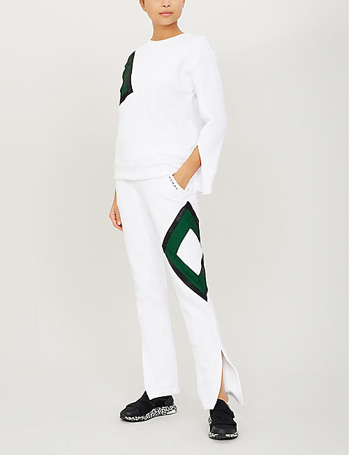 KORAL Rover contrast-panel stretch-jersey jogging bottoms