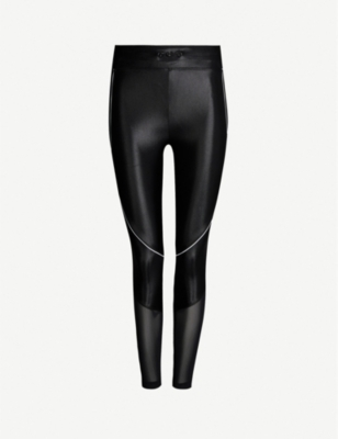 KORAL Focus mesh-panel stretch-jersey leggings
