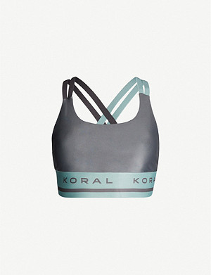 KORAL Judge Energy logo-trim neoprene sports bra
