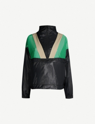 KORAL Contrast-panel shell and mesh bomber jacket
