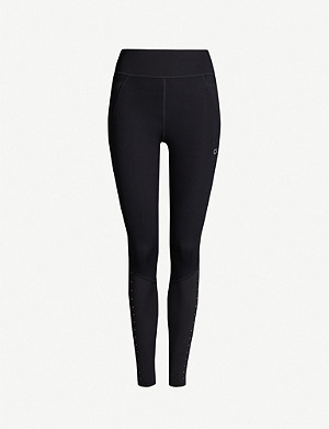 CALVIN KLEIN Performance branded stretch-jersey leggings