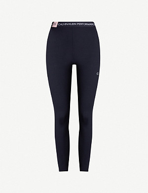 CALVIN KLEIN Performance high-waist stretch-jersey leggings
