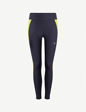 CALVIN KLEIN Performance side-stripe stretch-jersey leggings