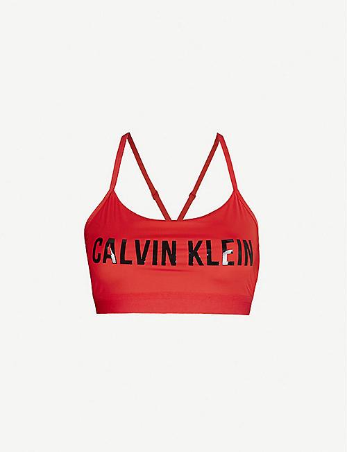 977a5d32454 CALVIN KLEIN Performance logo-print stretch-jersey sports bra
