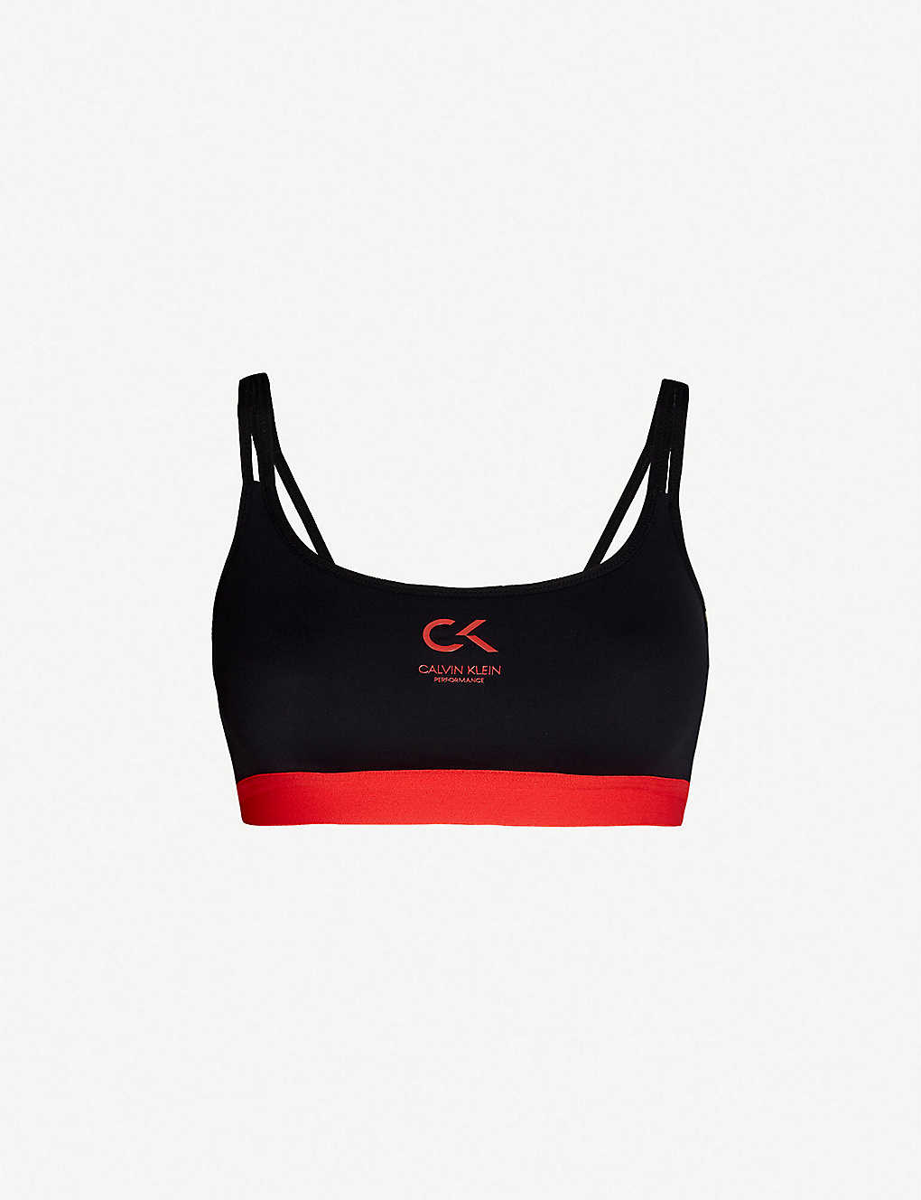 2fbbdfe62131e CALVIN KLEIN - Performance logo-print stretch-jersey sports bra |  Selfridges.com