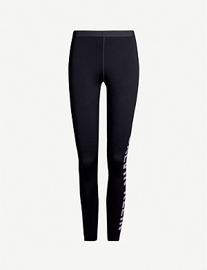 CALVIN KLEIN Logo-print 7/8 stretch-jersey leggings