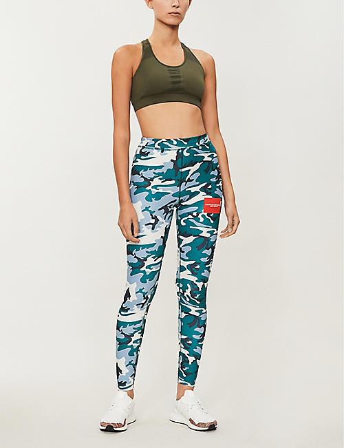 27c9ad07c87e0 CALVIN KLEIN Camouflage-print stretch-jersey leggings