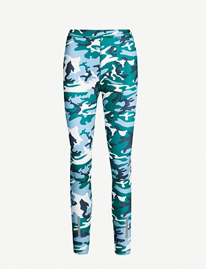 CALVIN KLEIN Camouflage-print stretch-jersey leggings