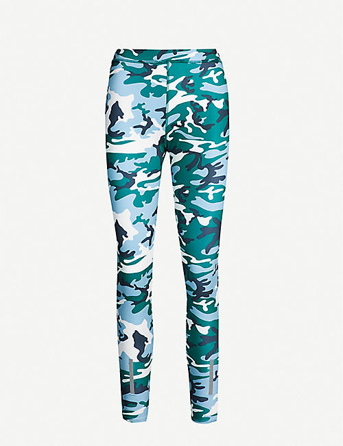 aa8bd6cee856a2 CALVIN KLEIN Camouflage-print stretch-jersey leggings