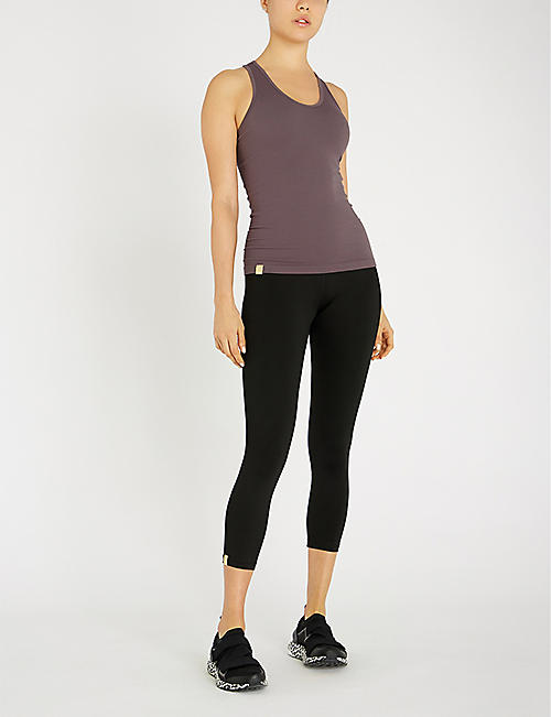 MONREAL LONDON Seamless ribbed stretch-jersey top