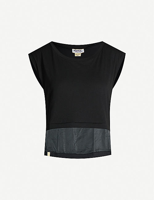 MONREAL LONDON Mesh-panel airstream cotton top