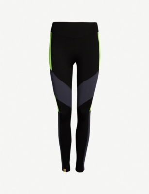 MONREAL LONDON Racer high-rise panelled stretch-jersey leggings