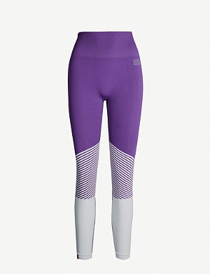 MONREAL LONDON Seamless high-rise logo-print stretch-jersey leggings