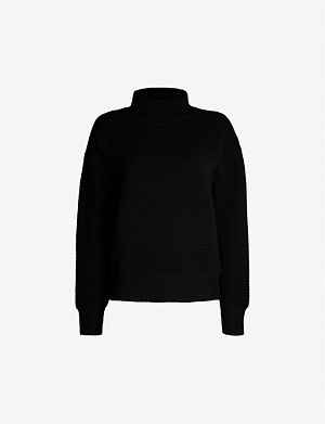 NAGNATA Turtleneck ribbed organic cotton sweatshirt