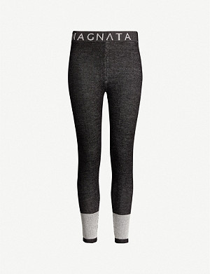 NAGNATA Ribbed-knit wool-blend leggings
