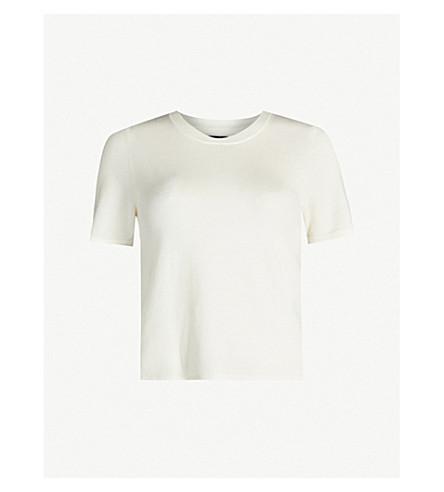 Trash short-sleeved wool-blend T-shirt