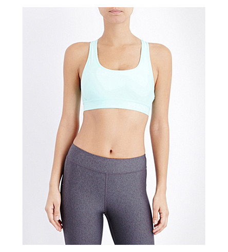 8097350f5f ... UNDER ARMOUR Armour crossback mid stretch-jersey sports bra (Crystal.  PreviousNext