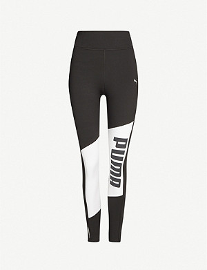 PUMA Logo-print high-rise stretch-jersey leggings
