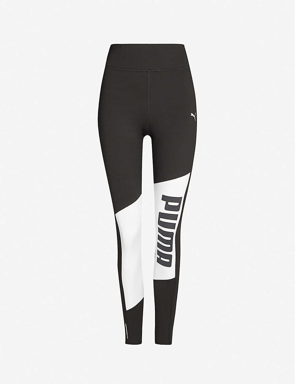 PUMA: Logo-print high-rise stretch-jersey leggings