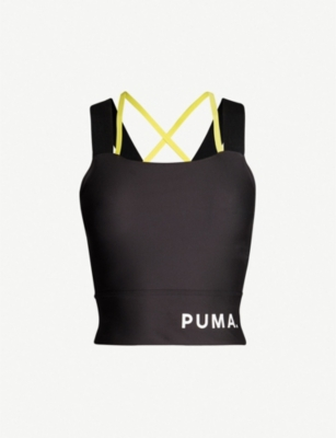 PUMA Chase cropped stretch-jersey top