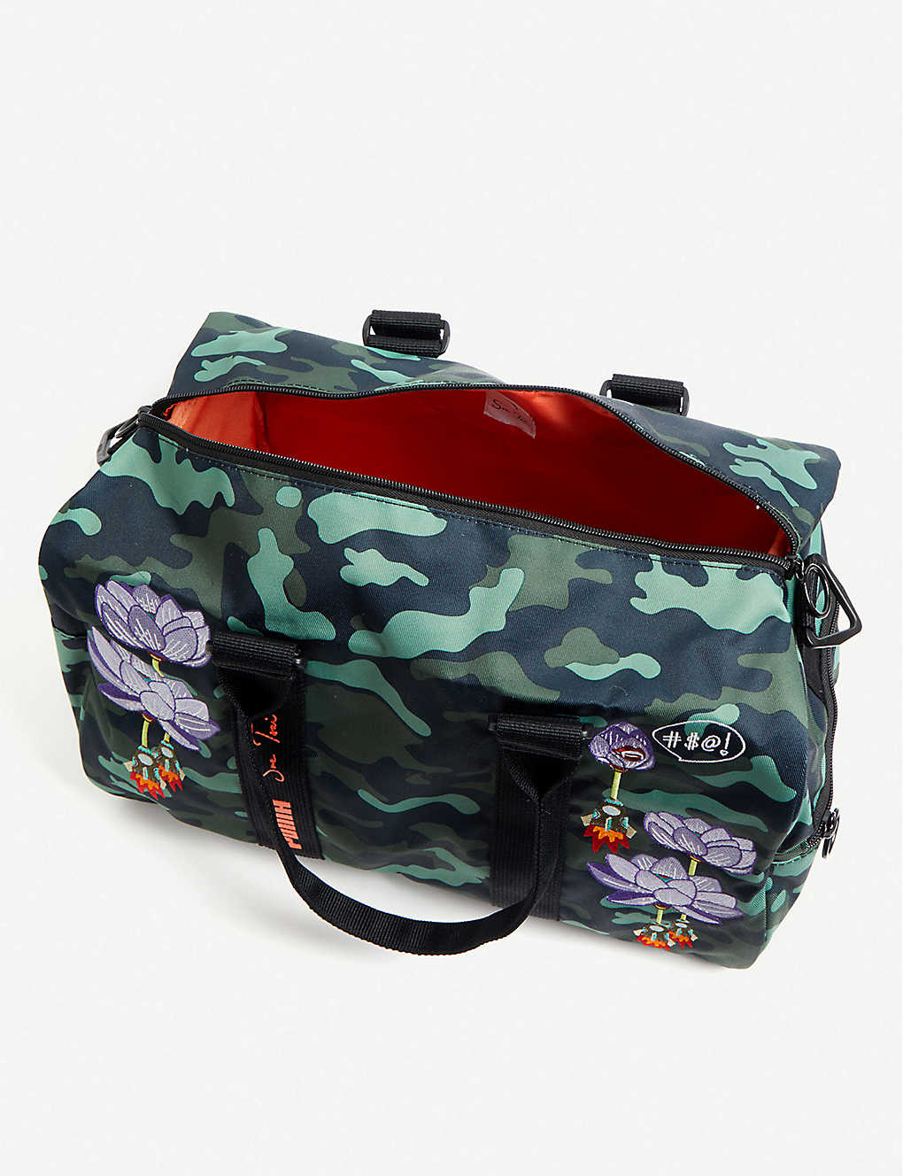 93f3e6b7560 ... PUMA x Sue Tsai floral-embroidered holdall - Puma black aop zoom