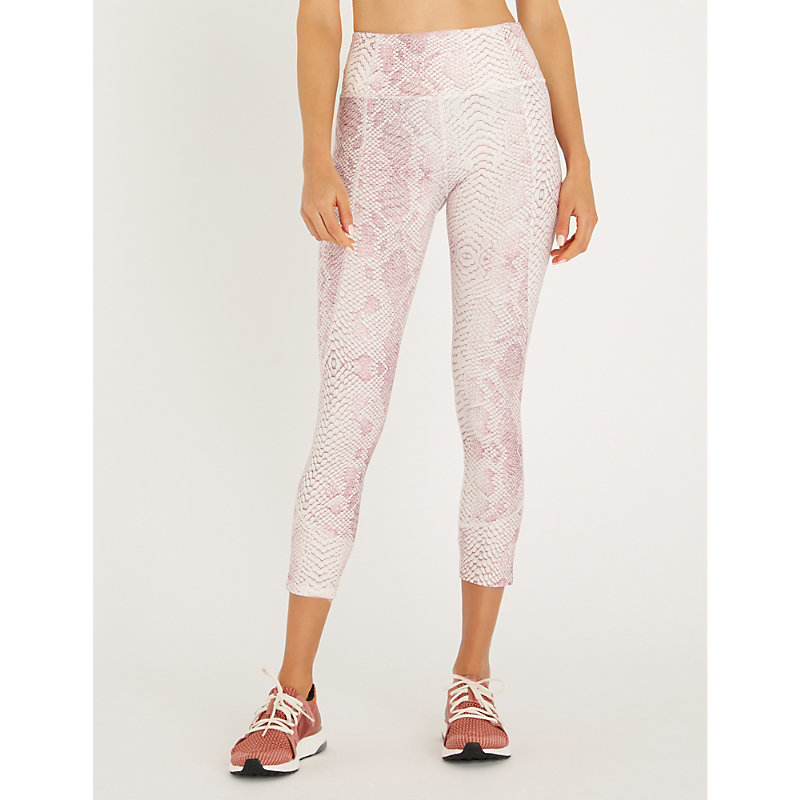 VARLEY Kensington Cropped Stretch-Jersey Leggings in Coral Snake