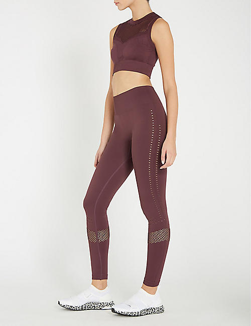 VARLEY Justin perforated stretch-jersey leggings